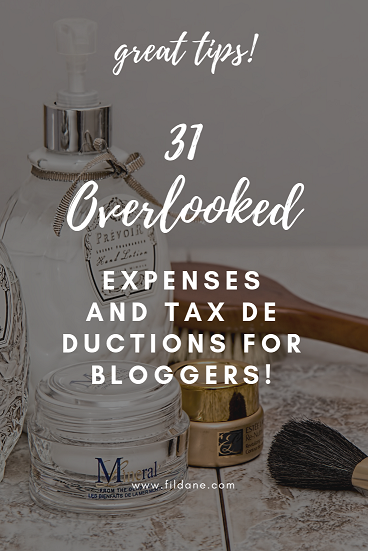 Tax Deductions For Bloggers: 31 Overlooked Expenses