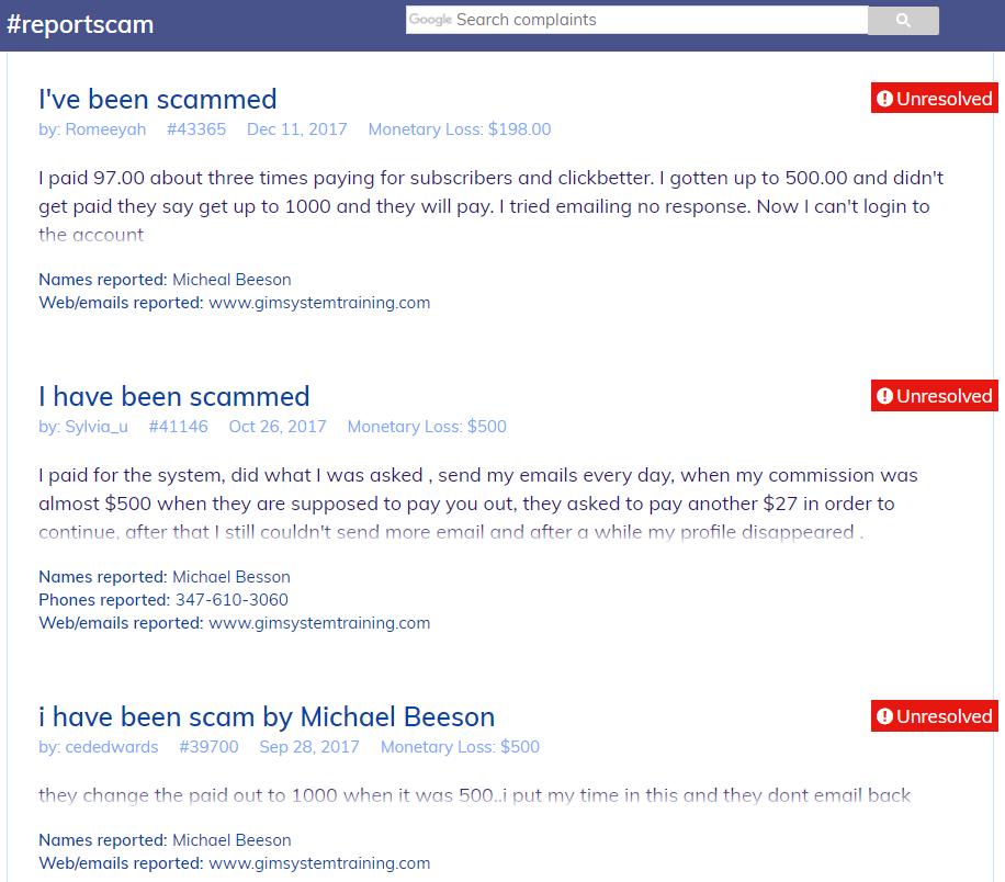 complaints-scam-michael-beeson